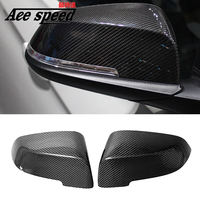 Replacement Side View Wing Mirror Caps carbon fiber cover Fit for BMW 21 F22 F23 F32 F33 F34 X1 F30 1 2 3 4 series mirror Cover