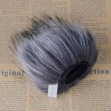 Профессиональный открытый пыльный микрофон Меховой чехол ветровое стекло муфта для TASCAM dr-40 DR40 ручка для записи голоса
