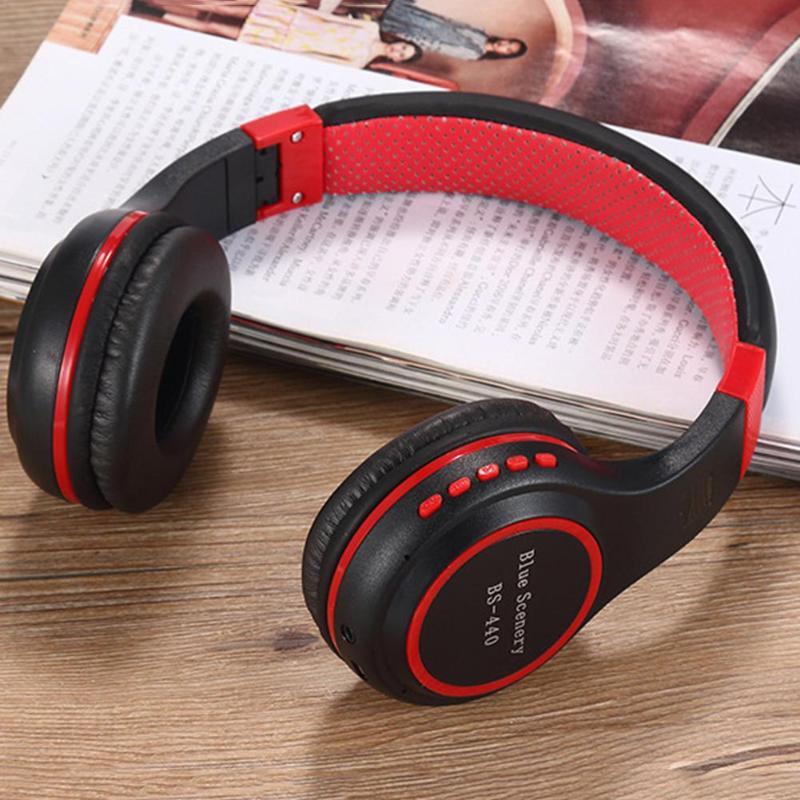 ALLOYSEED BS-440 Bluetooth Kopfhörer Faltbare Headset w/Mic Tf Slot FM Radio wahre drahtlose ohrhörer oortjes bluetooth