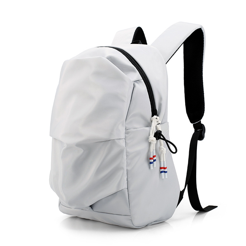 Lovely Nylon Laptop Backpack 13 13.3 14 Inch For Women And Men Backpack Female Large White Black Pink 2018 Aesthetic Appearance