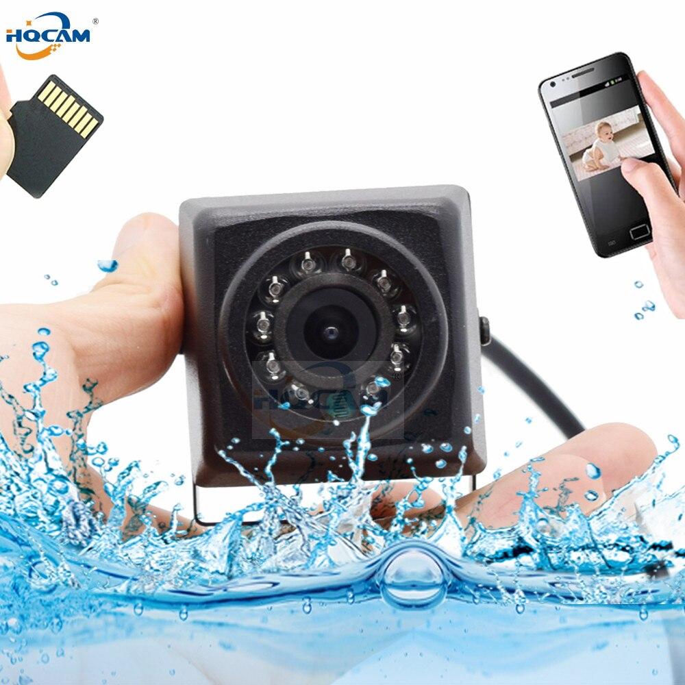 HQCAM Camhi 1080P Mini Waterproof IP66 camera TF card slot IR Night Vision IP Camera Outdoor