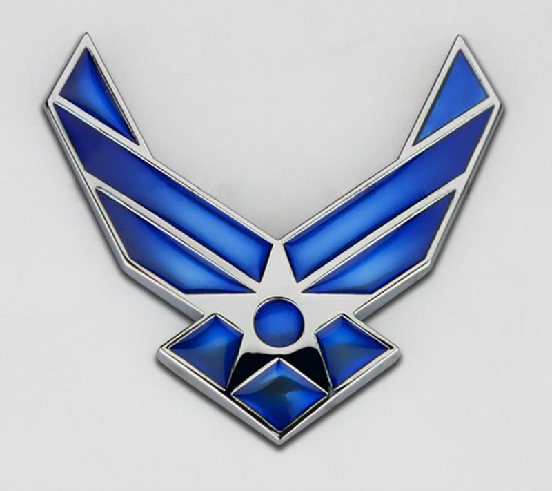 DSYCAR 3D Metal US Air Force Car sticker Logo Emblem Badge Car Styling for Fiat Bmw Ford Honda volkswagen Audi toyota opel DS VW 10