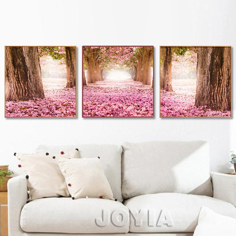 modern home decor fotos de cerezo en flor pintura y caligrafa impresiones de la lona para - Flor Decor