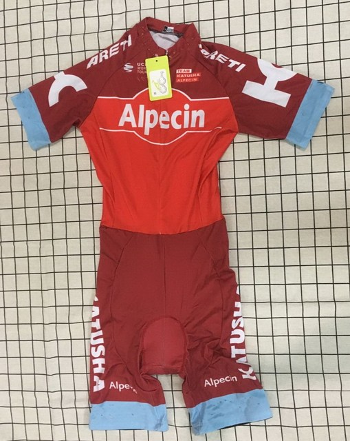MEN S CYCLING WEAR CYCLING JERSEY BODY SUIT SKINSUIT 2017 KATUSHA ALPECIN  PRO TEAM RED WITH 3D PAD SIZE  XS-4XL 3c32c082c