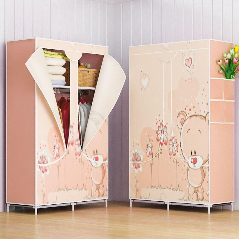 Armoire rack Non-tissé tissu vêtements organisateur armoire mode vêtements étagère de rangement maison chambre meubles - 2