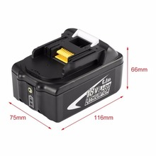 New Portable 18V Rechargeable Battery 6AH 6000mAh Li-Ion Battery Replacement Power Tool Battery For MAKITA BL1860 hot sale brand new li ion replacement power tool battery 18v 5 0ah for bosch 2607335040 psr 18 li 2 2607336039
