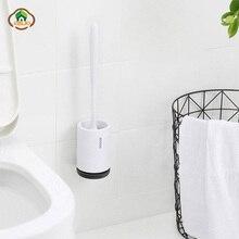MSJO Silicone Toilet Brush Wall Holder Black Murale Brosse Toilette Bathroom Cleaning Stand For Cleaner Wc Borstel