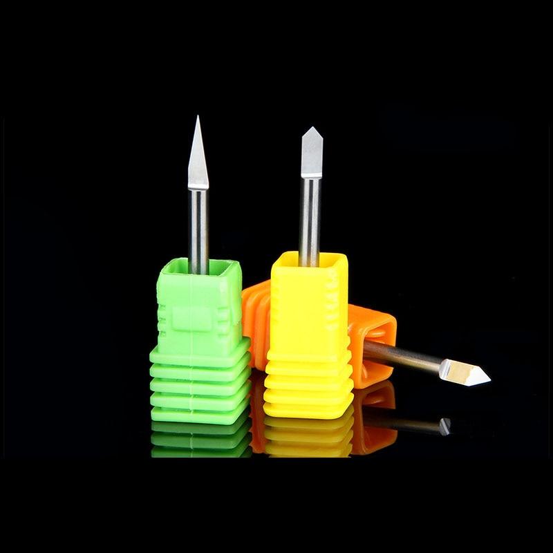 1PCS 3.175MM  flat knife carved copper metal CNC Router Tools  V Shape Carbide PCB Engraving Bits ontario knife rat 1