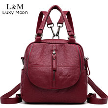 Multifunctional Women Backpack Female Back pack Small Mochila Feminina School Backpacks For Teenage Girls Bags Sac A Dos XA270H