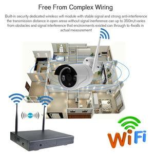 Image 4 - 4CH Wifi Cctv systeem Draadloze Nvr Kit 2 Stuks 960P Hd Ip Camera 1.3MP Outdoor Waterdichte Home Security Surveillance systeem