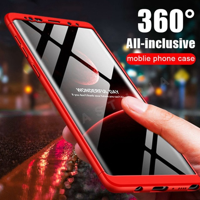 buy online dde0a 8c67a US $2.69 45% OFF|Note 9 Case For Samsuing A7 2018 Case 360 PC Cover For  Samsung Galaxy S9 Plus Note 8 A8 A6 S8 J3 J5 J7 2017 J8 J4 J6 Case Coque-in  ...