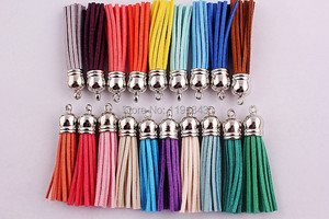 Image 1 - Kwoi vita Free shipping silver color 59mm Charms Tassels Style mixed Color Assorted Pendants100pcs/lot for kids necklace making