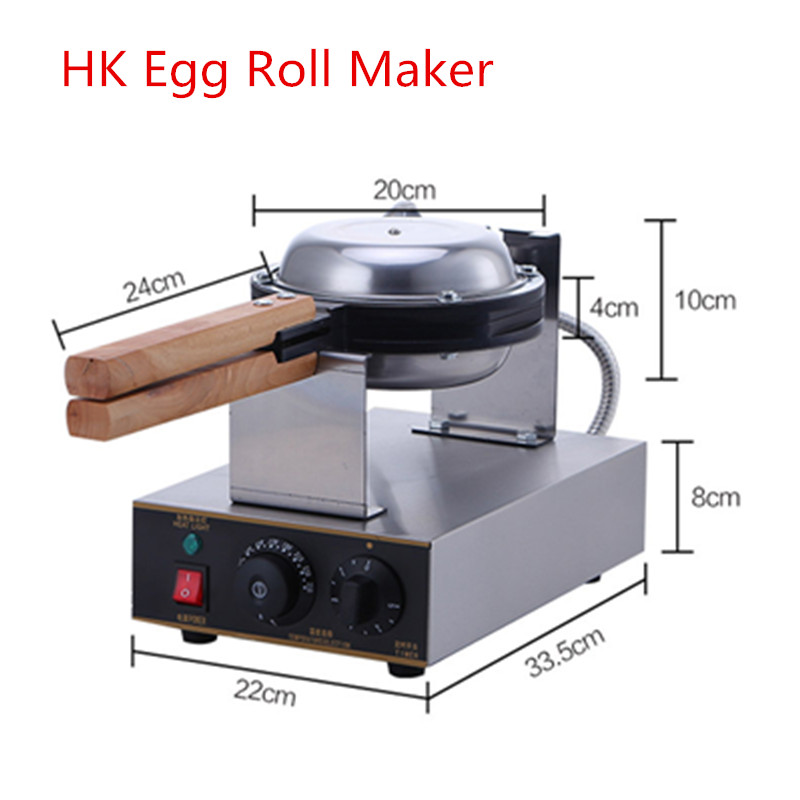 Wholesale And Retail Commercial Nonstick 220V Electric Digital Eggettes Puff Bubble Waffle Maker HongKong Egg Waffle Machine stainless steel mini computer controlled restaurant eggettes machine hongkong egg waffle maker