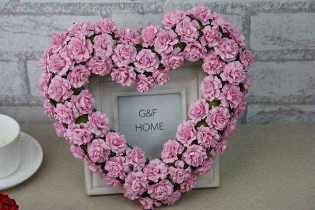 Sztuczne Wieńce Papieru Kwiat Róży Drzwi Drzwi Dekoracje ślubne ślub