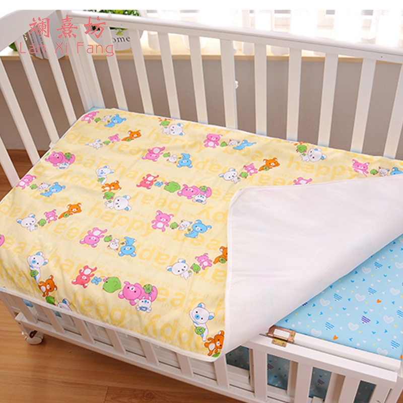 3 Colors Changing Pad Baby Kids Reusable Waterproof Mattress Bedding Diapering Changing Mat Washable Breathable Cotton baby cotton changing mat portable foldable washable infants changing mat diaper pad changing pads