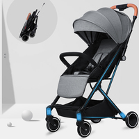 KUBEEN&Baby Bum lightweight baby stroller folding portable baby carriage trolley summer and winter Black frame