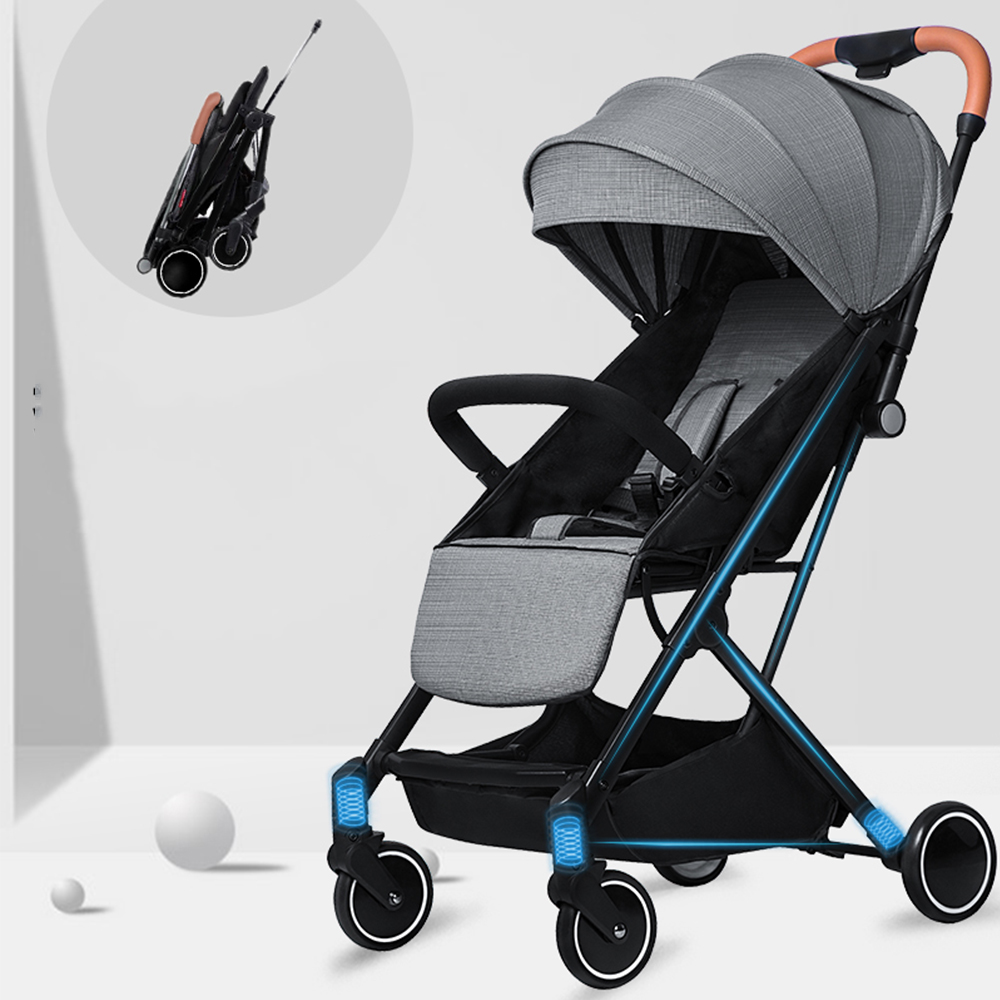 KUBEEN&Baby Bum lightweight baby stroller folding portable baby carriage trolley summer and winter Black frameKUBEEN&Baby Bum lightweight baby stroller folding portable baby carriage trolley summer and winter Black frame