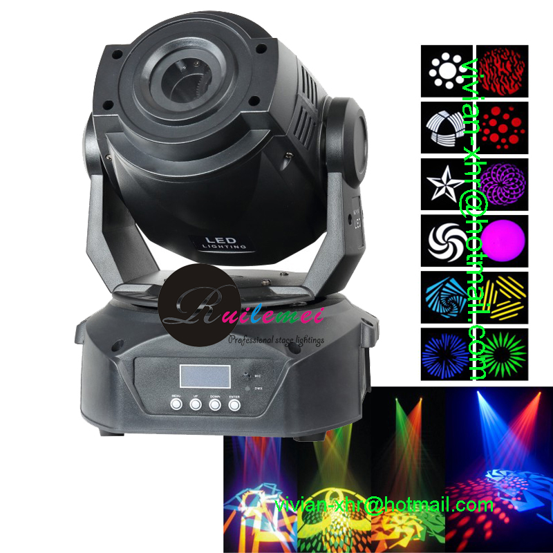 Free Shipping Hot 90W Moving Head Led Follow Spot DMX Stage Holiday Light Projector DJ Movings Beam Lights ...
