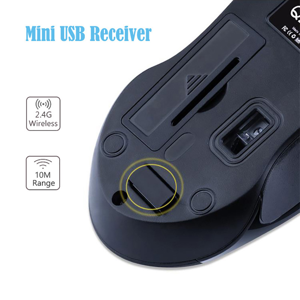Image 5 - Q2 Symmetric Design 1200DPI Optical Mini Wireless Mouse for Laptop Computer-in Mice from Computer & Office