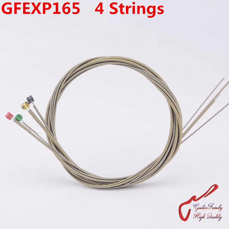 1 Set GuitarFamily GFEXP165 Coated Nickel 4 Strings Electric Bass String ( 045-105 ) Made IN USA