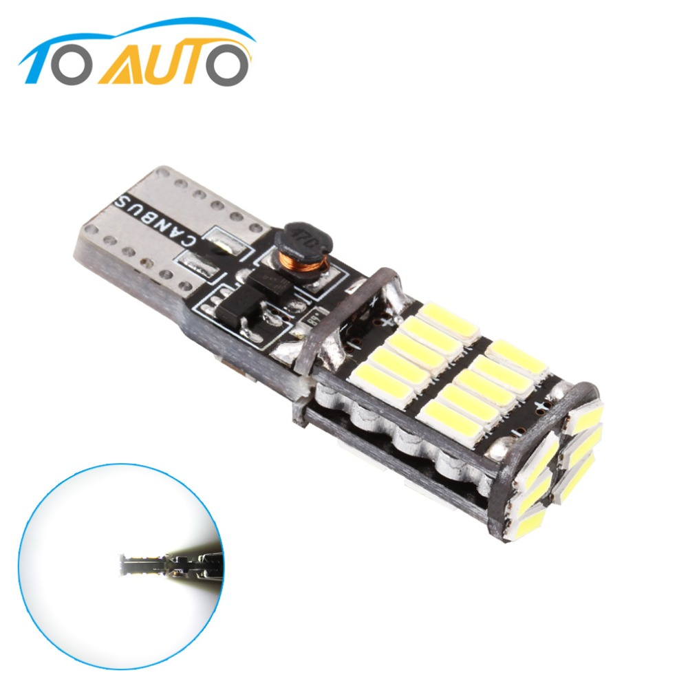 T10 W5W 194 501 <font><b>LED</b></font> <font><b>Canbus</b></font> No Error Car Lights 26 SMD 4014 Chip White Reading Instrument Light Bulb White 12V <font><b>5w5</b></font> Auto 6000K image