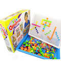 296 Grain Nail Mushrooms Children Intelligence Toy Combination Jigsaw Puzzle 3D Puzzle Games