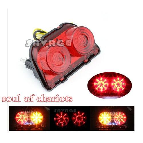 Accesorios de la motocicleta led integrado luz trasera intermitente rojo para ho