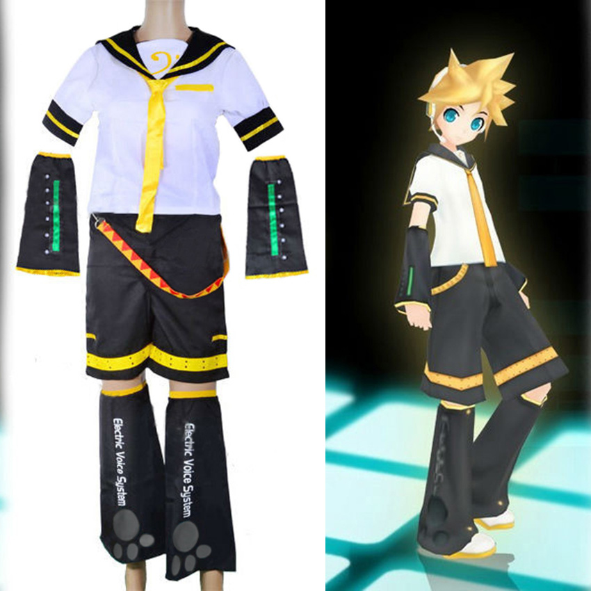 Free shipping Vocaloid Kagamine Len Cosplay Costume
