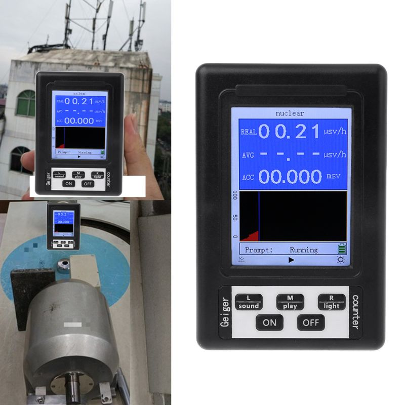 Upgrade Geiger Counter Nuclear Radiation Detector Personal Dosimeter Marble Tester X ray Beta Gamma Ray Display