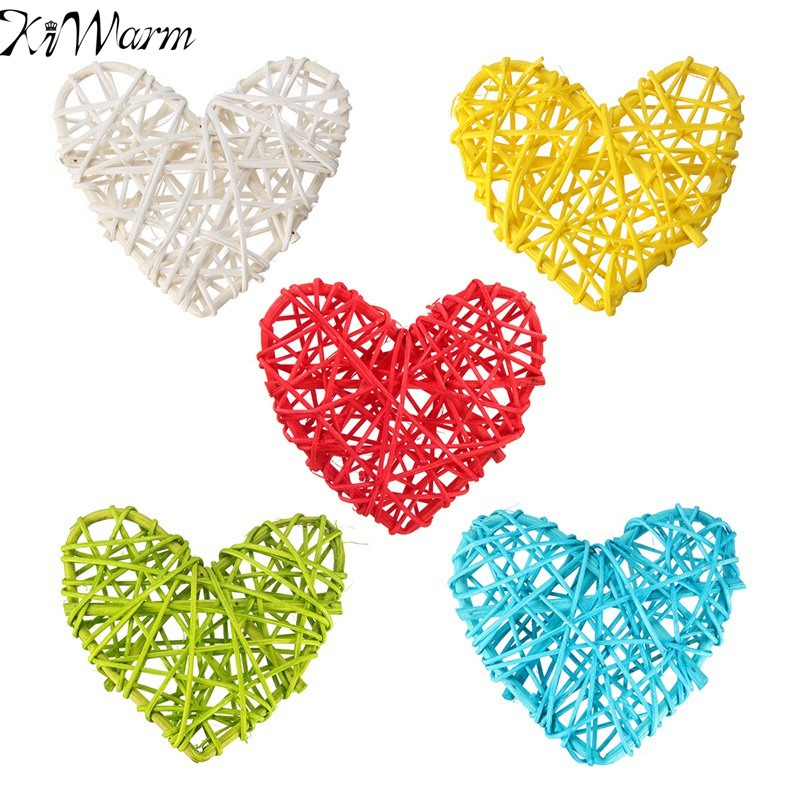 Home & Garden Wind Chimes & Hanging Decorations Frugal Kiwarm 5pcs Multicolor Heart Shape Sepak Takraw For Christmas Birthday Party Home Wedding Party Hanging Decoration Rattan Ball