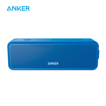 Anker SoundCore Portable Bluetooth Speaker Blue with Stereo Sound Rich Bass 24h Playtime 66 ft Bluetooth Rang Built-In Mic