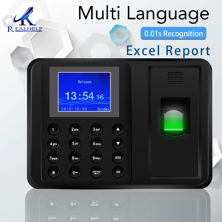 Biometric Fingerprint Time Attendance Machine Office Time Recorder HR Employee Management C900U Fingerprint Scanner