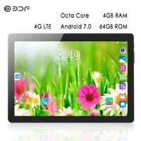 2019 топ продаж 10 дюймов 4G LTE телефонный звонок Android 7,0 планшетный ПК четырехъядерный 4 Гб 64 Гб ips планшеты WiFi gps планшет на Android c Bluetooth