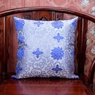 Этнические квадратные шелковые атласная наволочка 45x45 Рождественские декоративные Чехлы для дивана китайские подушки - Цвет: Белый