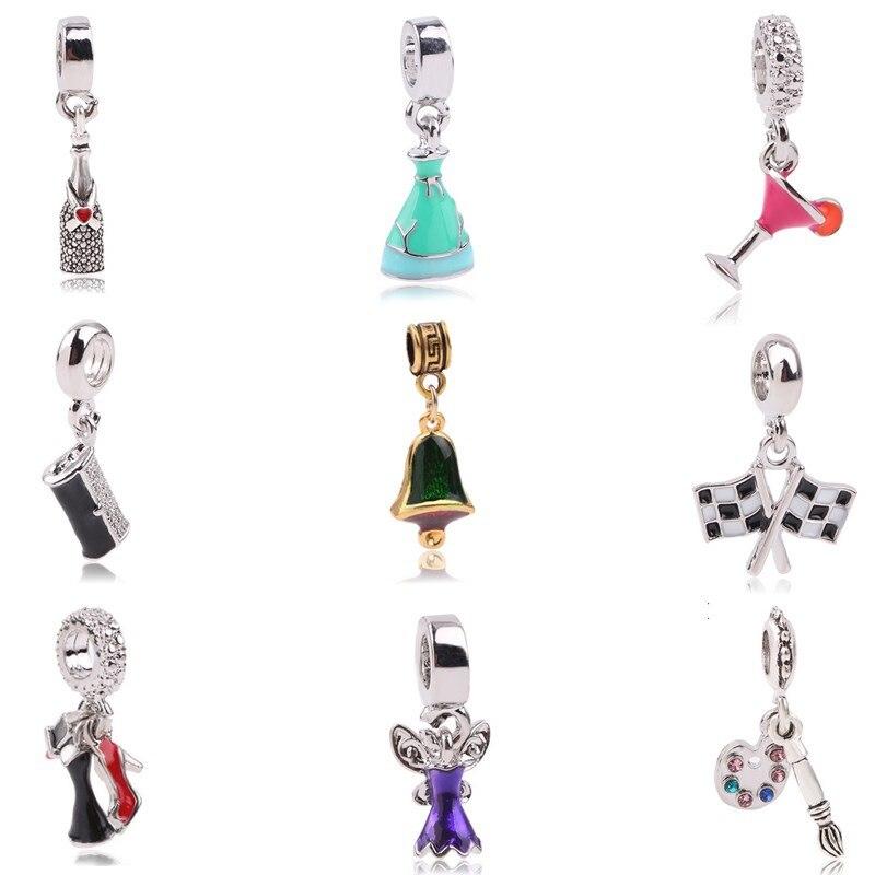 AIFEILI Hot Sale Silver Color Bead Charm European Charm Pendant Bead Fit For Pandora Charms Bracelet