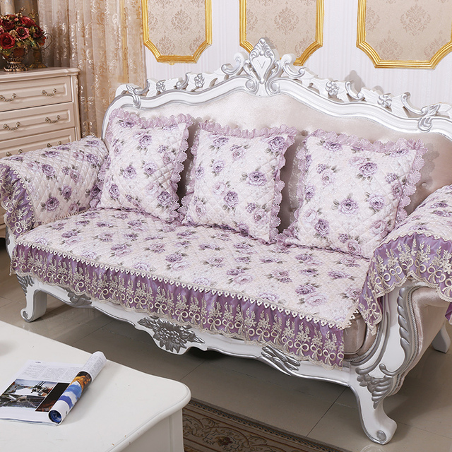 Past Jacquard Fabric Case On The Couch Quilted Sofa Cover Fl Cushion Throws Slipcover Sectional