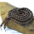 Authentic 108 wood beads Laoshan Shen Vietnam sandalwood prayer beads 6-8mm hand beaded bracelet wristband men jewelry 0347