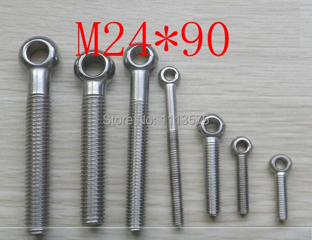 M24*90 304,321,316 stainless steel eye bolt,eye nuts and bolts fasterner hardware,stud articulated anchor bolt free shipping m14 45 carbon bolt hardware nuts and bolts 2 pcs lot