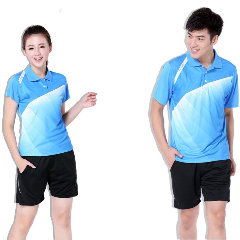 Chemise et short de Badminton pour femmes hommes uniformes Couples vêtements de Sport ensembles de Sport vêtements respirants à séchage rapide costumes Masculino
