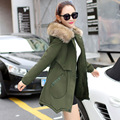 2016 new women in the long winter coat jacket winter cotton padded jacket thick long sleeved slim Korean