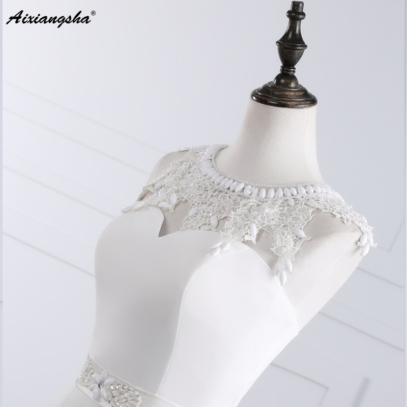 New Hot Selling Vestido de Noiva Casamento Robe De Mariage Scoop A-line lace Appliques Custom Made Wedding Dresses 7