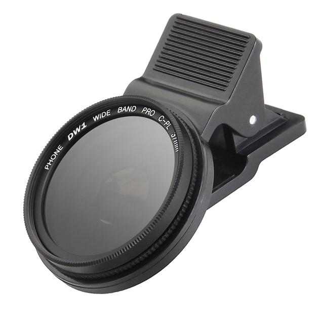1 Unids Universal Clip Polarizador 37mm CPL Filtro de la Lente de Teléfono Móvil polariscopio para iphone 6 7 plus 5S samsung s3 note3 cámara lente