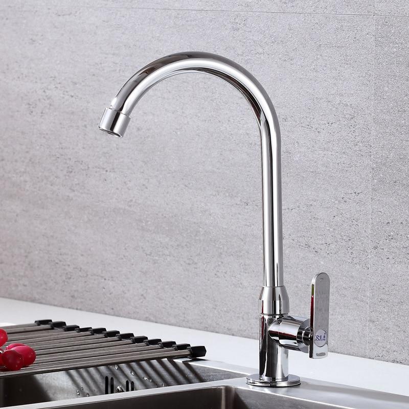 Single Cold Dish Faucet Round Vertical Dish Faucet Sink Kitchen Basin Faucet