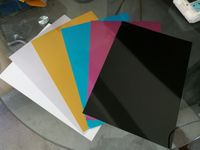 0.45mm 100sheets Black and 100sheets Silver 200x400mm Blank Metal Plate Name Card Printing Laser Engraving Sublimation Printing