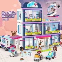 CX 01039 932Pcs Model building kits Compatible with Lego girls friends 41318 Heart Lake Love Hospital 3D Bricks figure toys