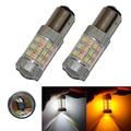 2 UNIDS Alta Potencia 1157 BAY15D LED Color Dual Del Coche Frío blanco/Ámbar LED Switchback Señal de Vuelta de Luz de Freno de la Cola bombillas