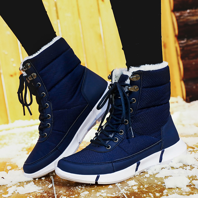 WOLF WHO Big Size 36-48 Winter Men Boots Male Casual Fahsion Waterproof Snow Boots With Fur Keep Warm Hiking Ankle Boots X-170 *32947367612