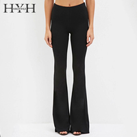 HYH HAOYIHUI Spring Summer Women Slim Trousers Natural Waist Wide Leg Flare Pants OL Career Pants