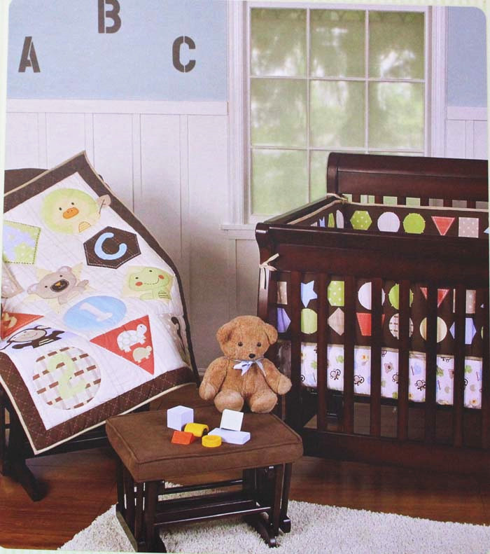 Promotion! 3PCS embroidery Baby Sets Crib Bedding Quilt Set Baby Children ,include(bumper+duvet+bed cover)