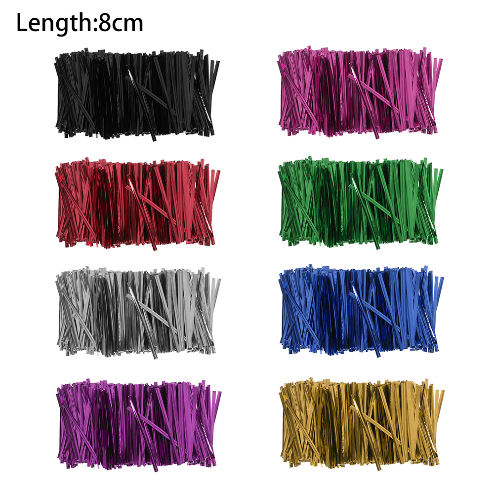 Image 5 - 800PCS/Pack New Metallic Twist Ties Wire Cellophane Bag Pack Sealing Steel Baking Wrapping Ligation Event & Party Supplies-in Gift Bags & Wrapping Supplies from Home & Garden
